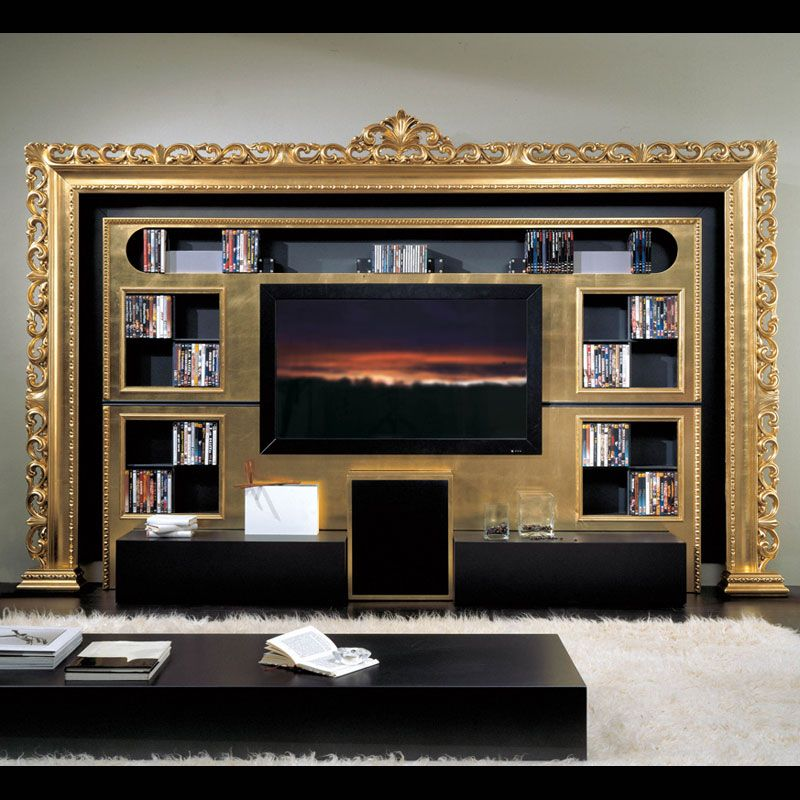 OMG! Build a wall for TV with wires etc behind and frame it with an ...