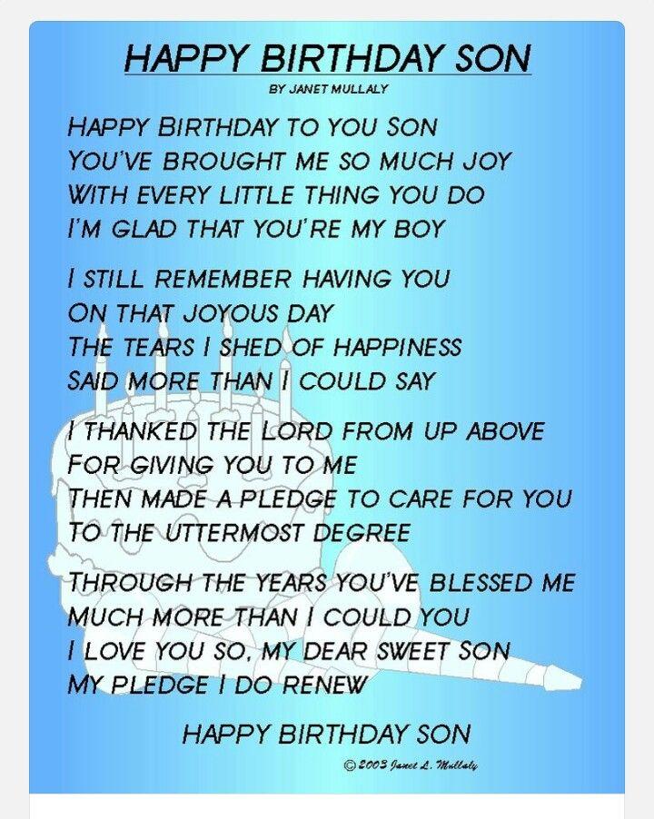 Happy Birthday My Son Happy Birthday Son My Son Quotes Son Birthday Quotes
