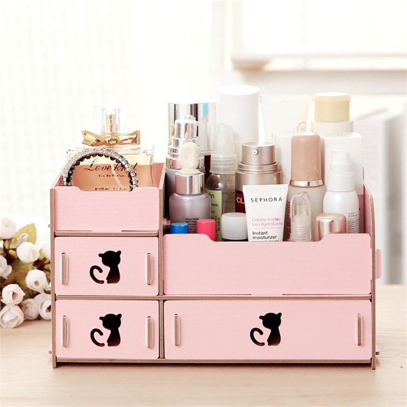 Diy wooden box cosmetic drawer makeup organizer case storage the diy wooden box cosmetic drawer makeup organizer case storage the insert holder boxjewelry stationery solutioingenieria Choice Image