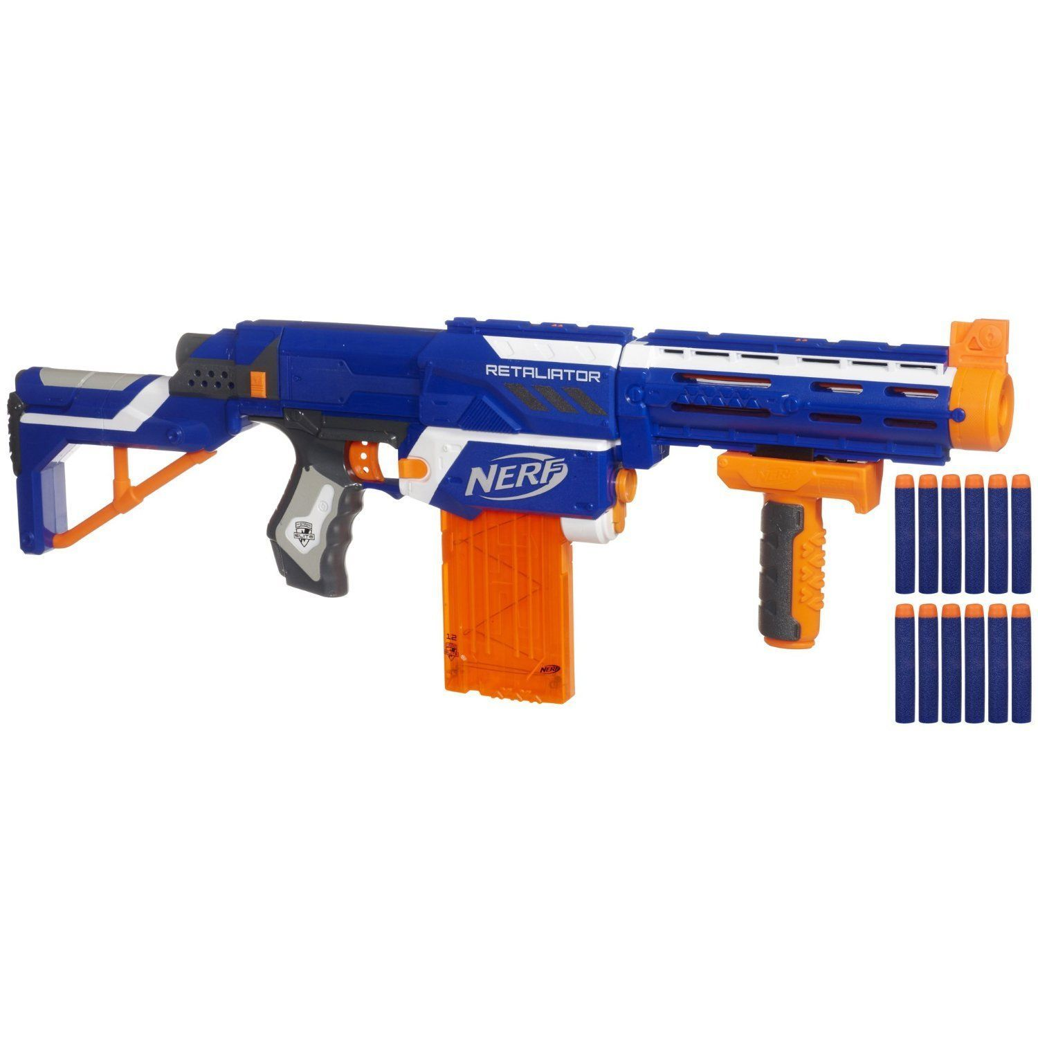 Nerf N Strike Elite Retaliator Mega Series Blaster Kids Rifle Game Gun Darts Toy