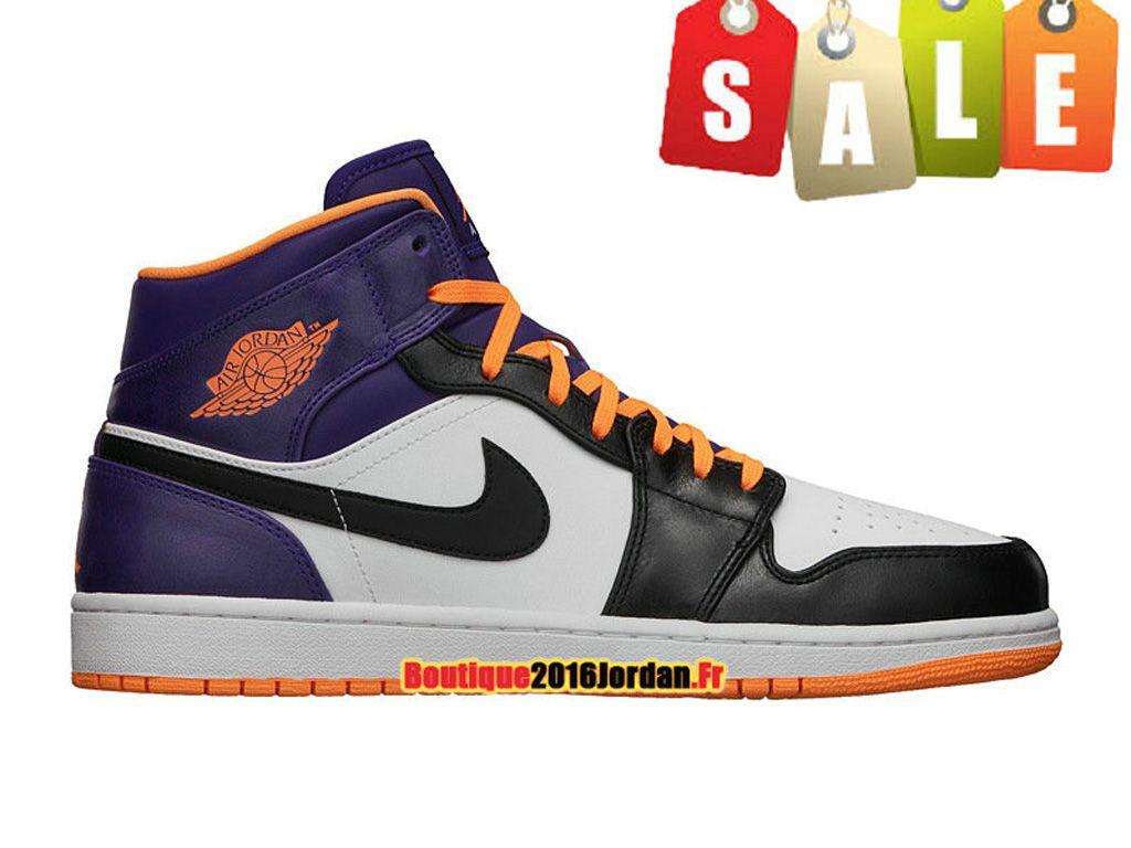 Air Jordan 1 PHAT Mi-Montante - Chaussures de Basket-ball Jordan Pas Cher