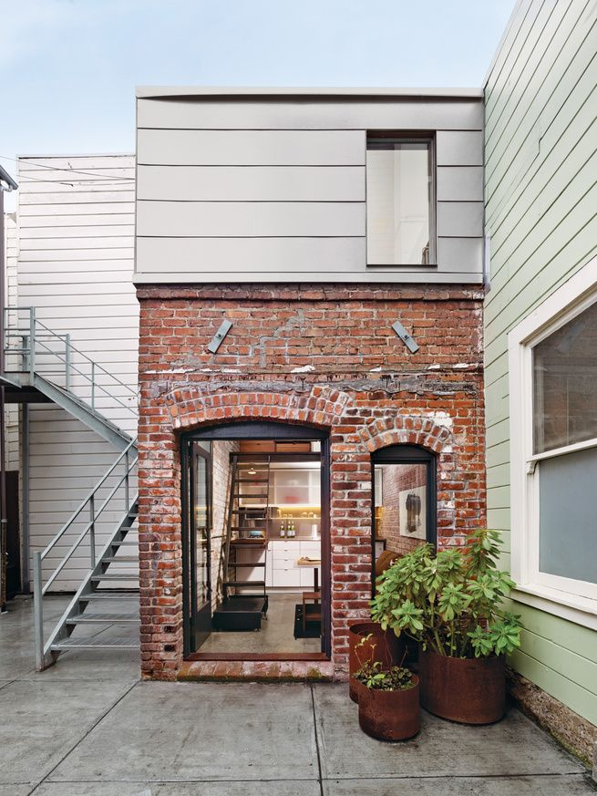 Multi-level San Fran brick guest house.