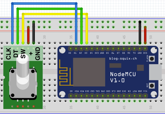 ESP8266 Peripherals: KY-040 Rotary Encoder | Arduino Android