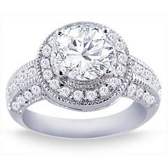 1.50 Carat Round Cut Diamond Engagement Ring