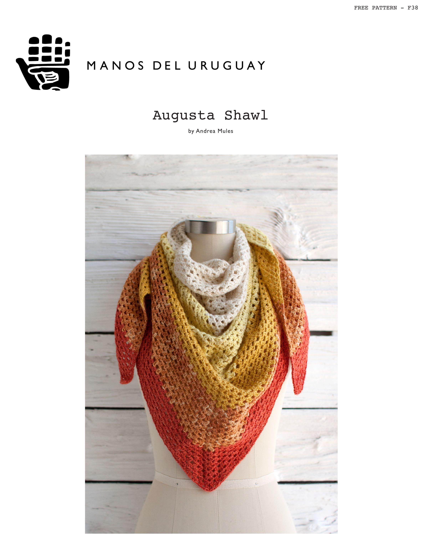 Augusta Shawl in Manos del Uruguay Serena | Crochet Hats, scarves ...