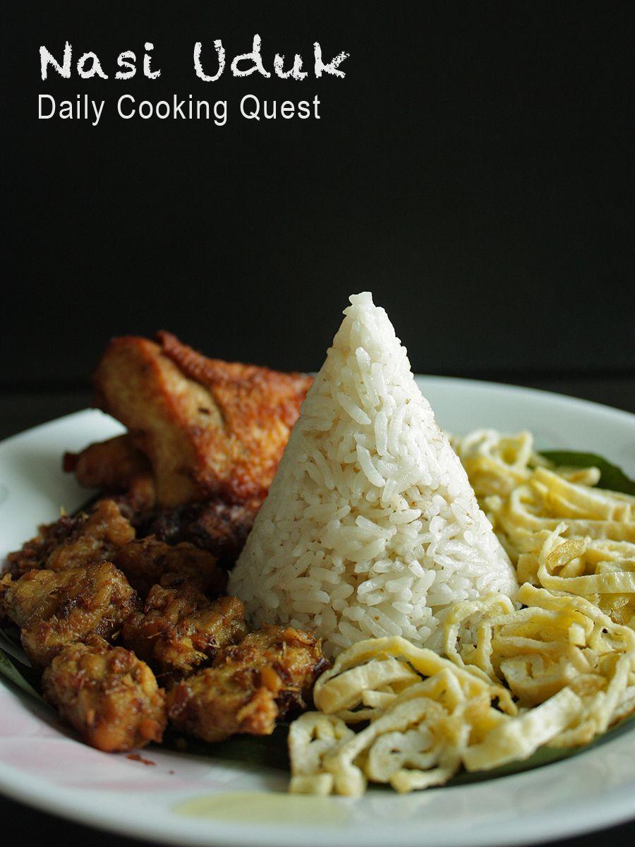 Nasi Uduk Betawi Jakarta Fragrant Coconut Rice Recipe Coconut Rice Recipe Coconut Rice Cooking