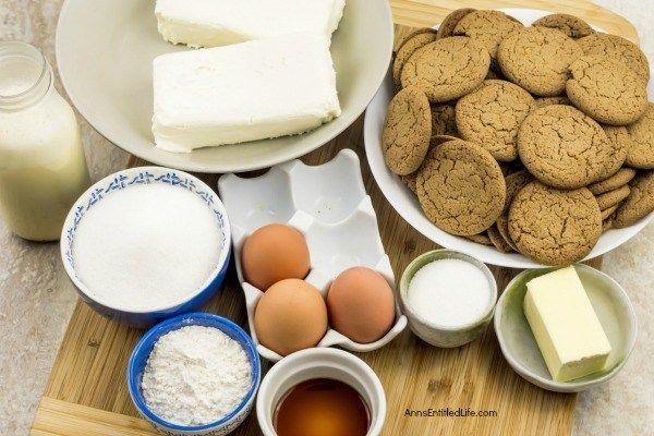 Eggnog Cheesecake with Gingersnap Crust Recipe #eggnogcheesecake