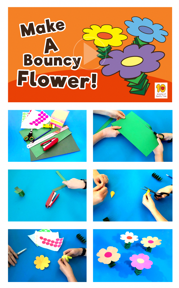 Fun Activity For Kids At Home Bouncy Flower Simple Arts And