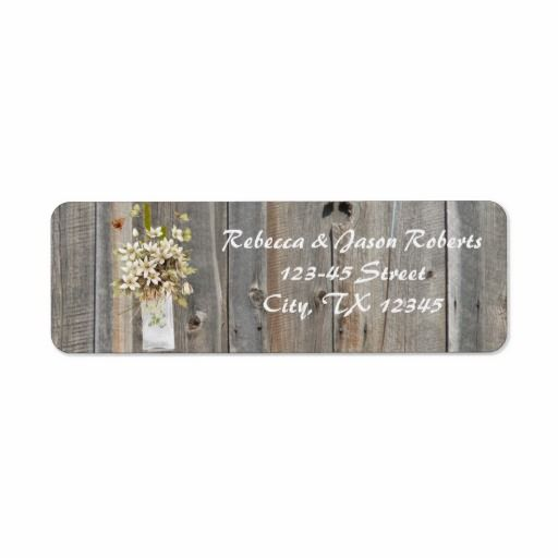 vintage barnwood floral spring country wedding labels