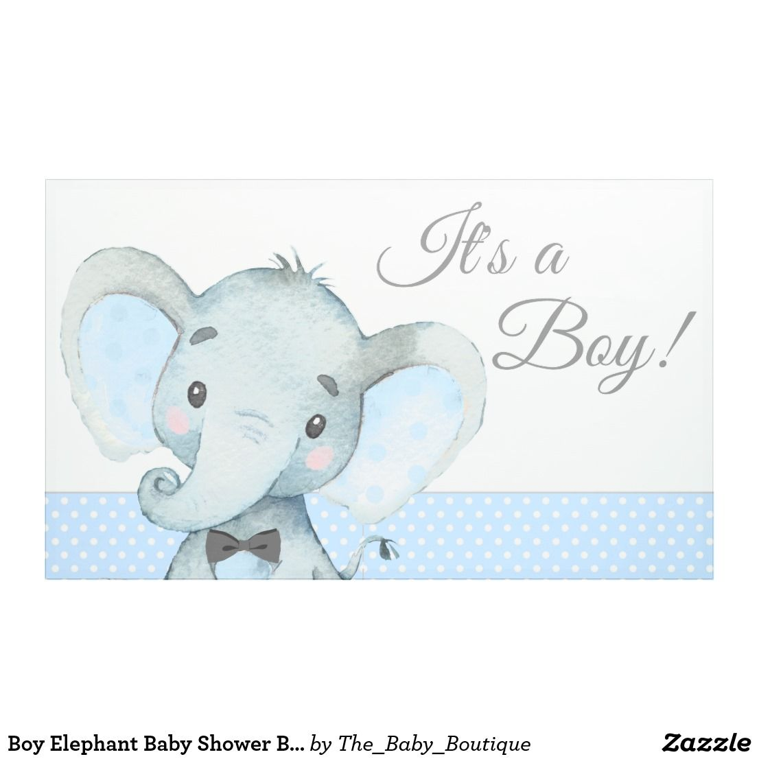 Boy Elephant Baby Shower Banners Zazzle Com Baby Shower Banner Elephant Baby Shower Banner Baby Shower Banner Boy