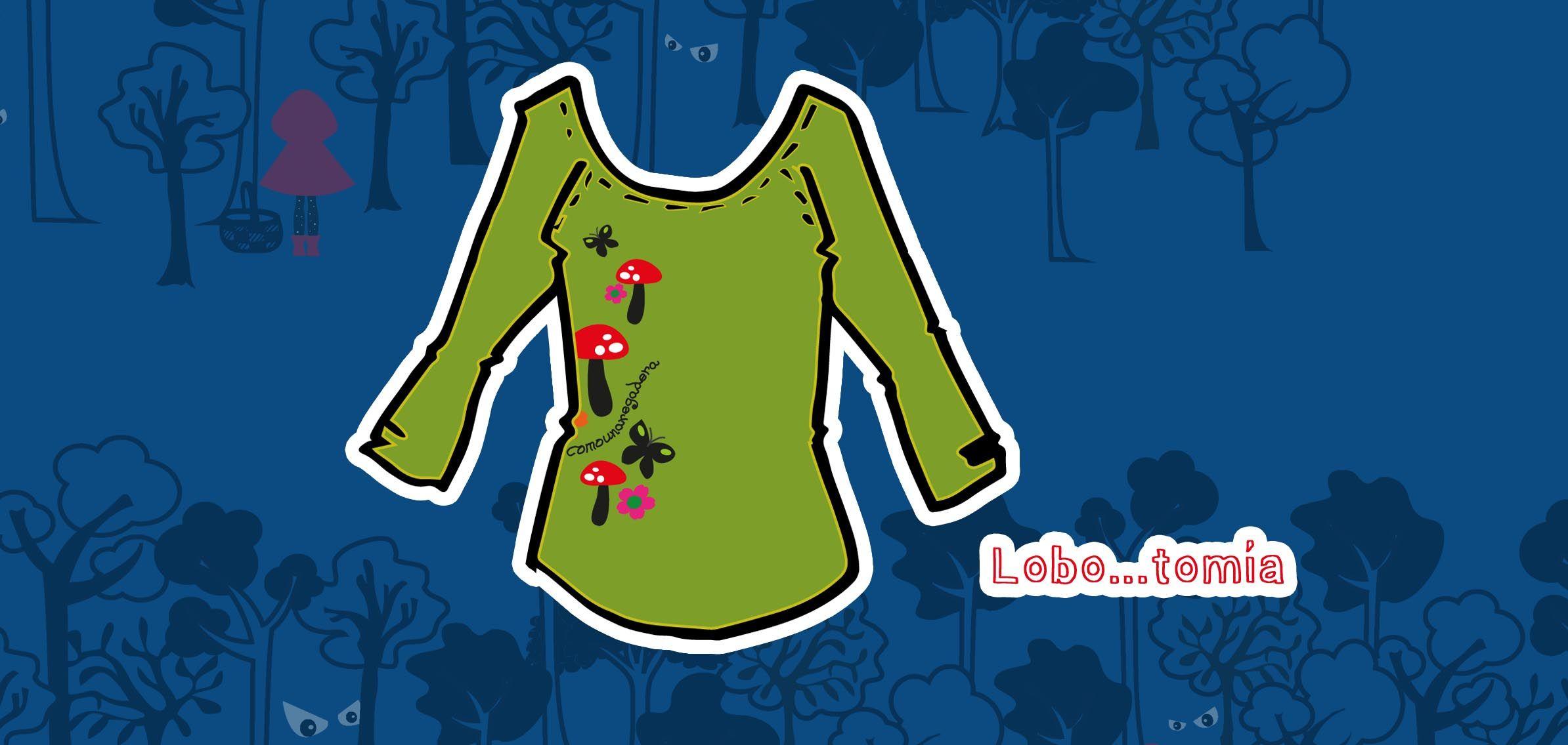 """Shirt: """"Lobo...tomía"""" / Set """"Menos lobos caperucita"""". #CUROI15"""