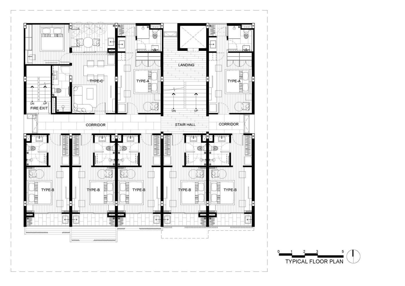 Gallery Of Hachi Serviced Apartment Octane Architect Design 47 Building Design Plan Apartment Design Serviced Apartments
