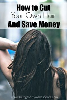 Do you want to learn how to save money by cutting your own hair? Try this easy hair cutting method that you can do at home for an even hair cut every time and save money too!
