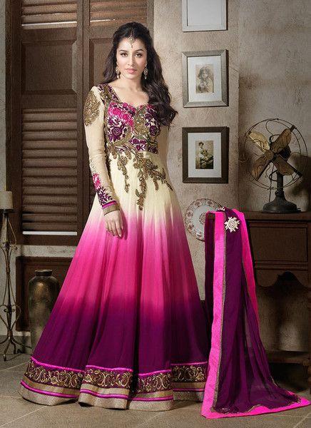 Shraddha Kapoor Pink Anarkali Suit