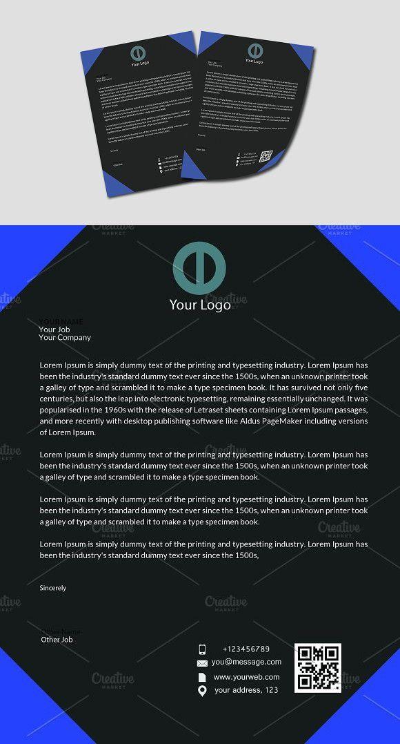 letter format on letterhead%0A Sdcrtrglth Letterhead Template  Stationery Templates