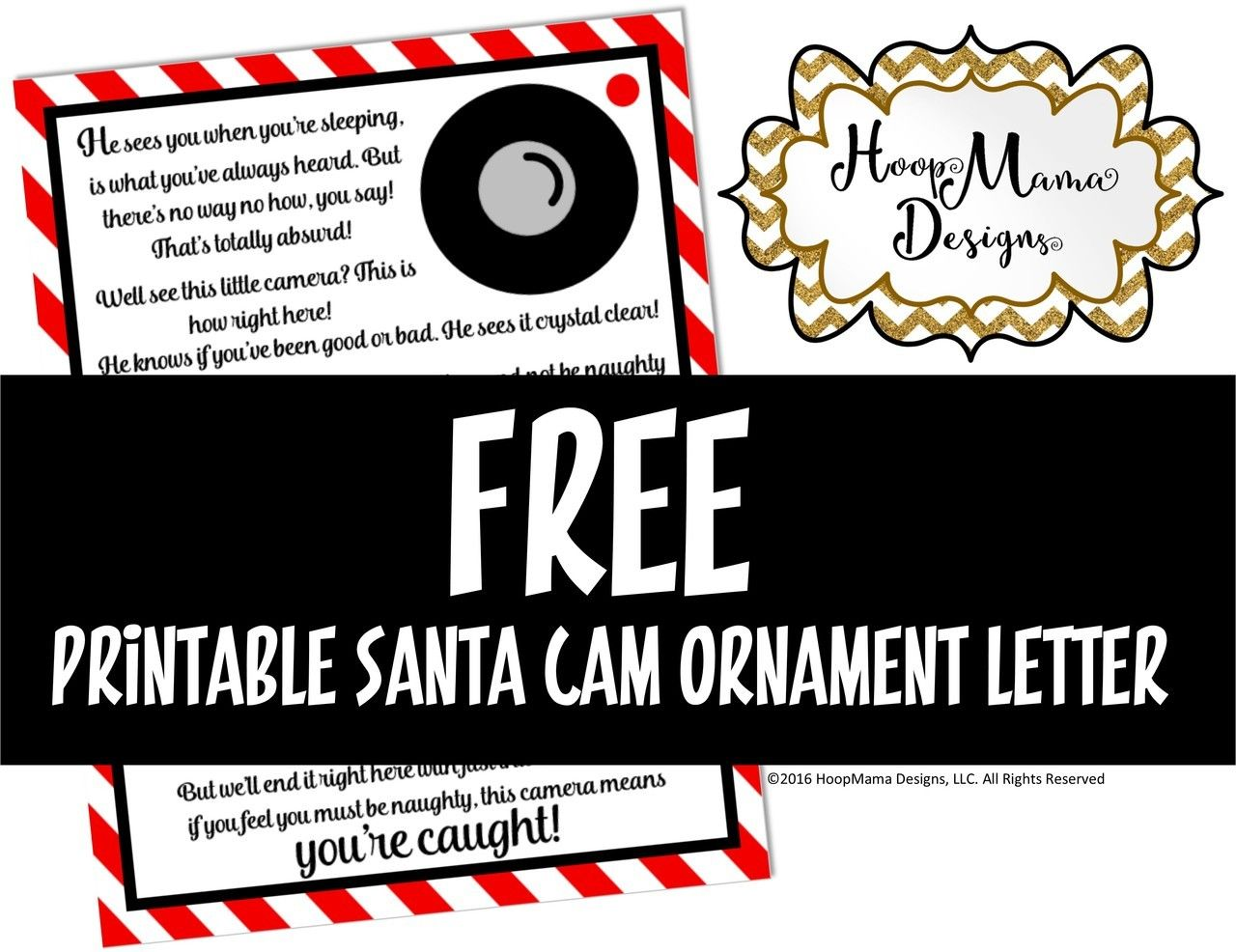 Hoopmama Designs Llc  Free Printable Santa Cam Letter  Pdf File