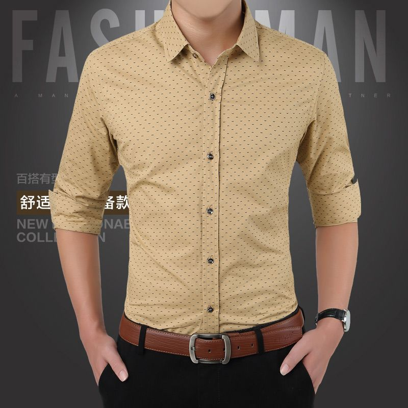 New Men Shirts Casual Slim Fit Long Sleeve Shirt For Male Designer Print Camisa Brand Dress Size M 5xl Ca3 Shirtan