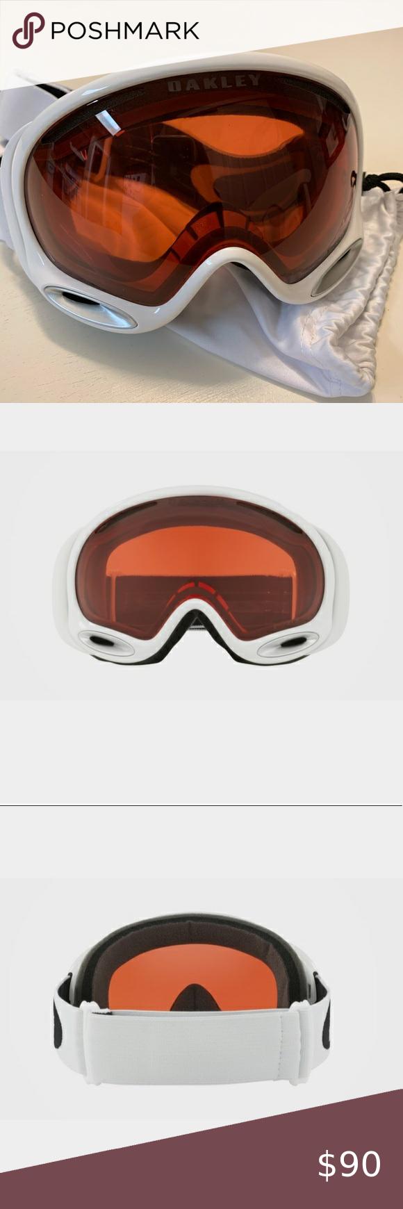 Oakley Ski Googles A Frame Polished White Oakley A Frame 2 0 Polishes White Ski Goggles W Prize Rose Lenses New In Box Plas Oakley Ski Oakley Ski Goggles