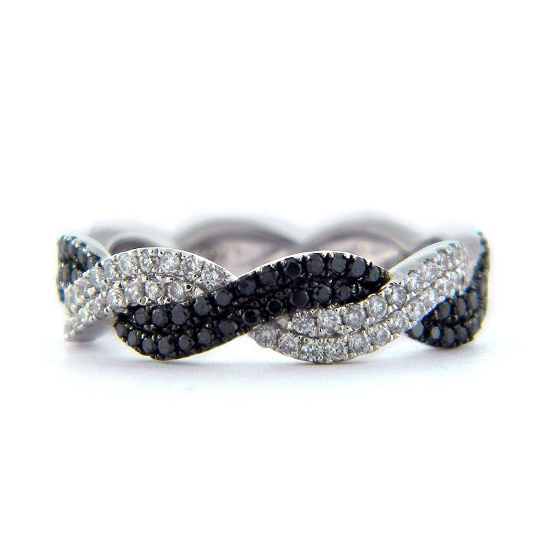 black diamond engagement rings black diamond twist rope braided ladys diamond ring