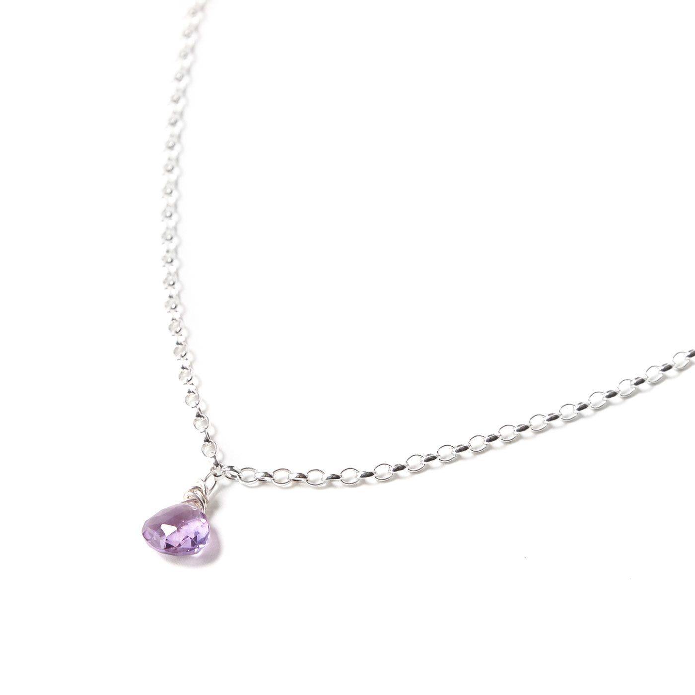 Sterling Silver and Amethyst Necklace  Photography by Becky Starsmore
