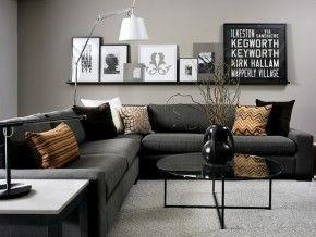 woonkamer met hoekbank, kussens in verschillende natuurlijke, Deco ideeën