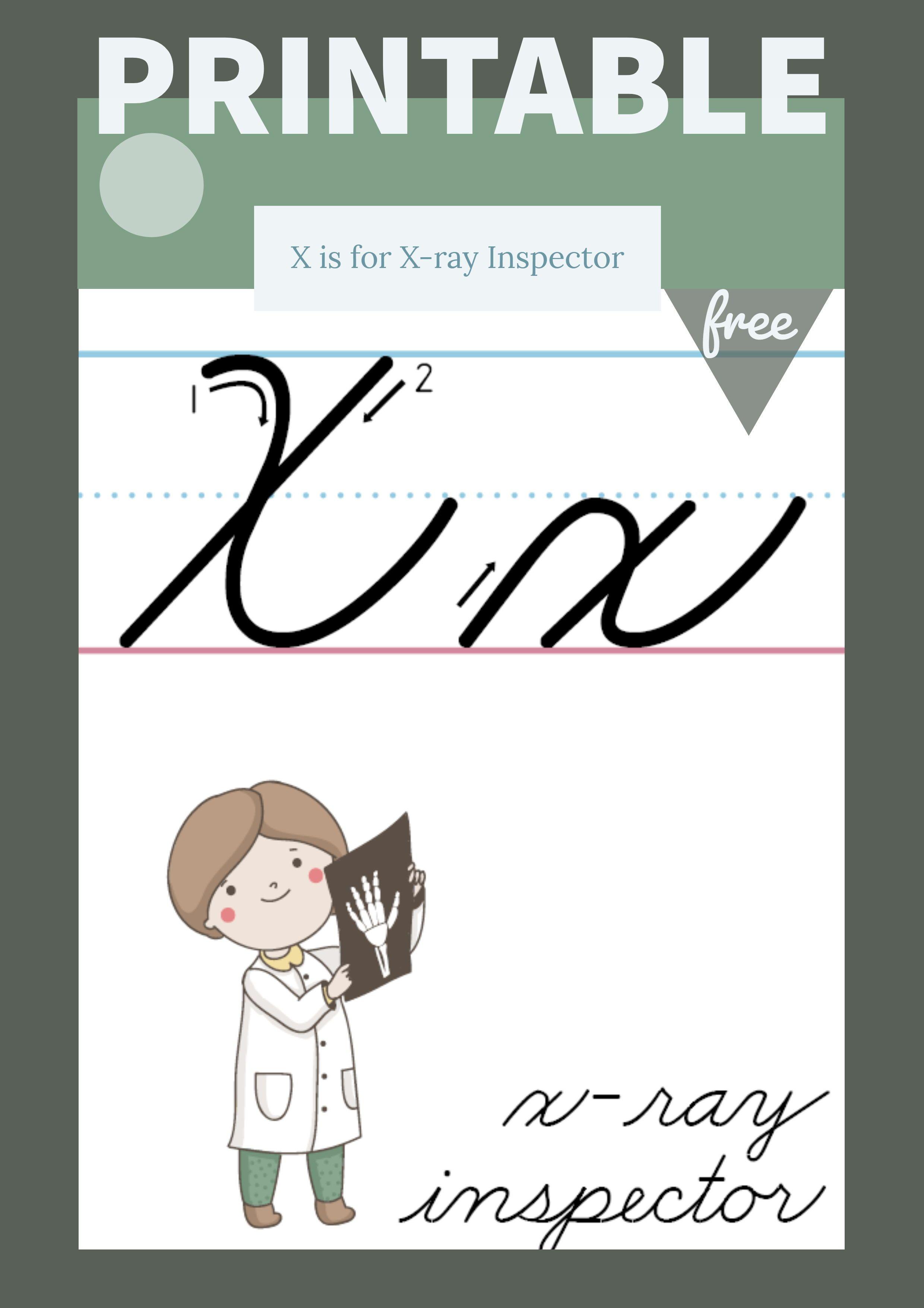 The Letter X In Cursive