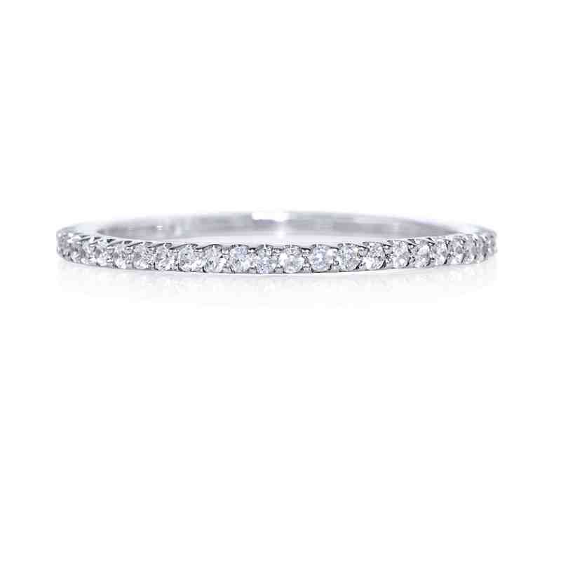 Thin Diamond Wedding Bands For Women