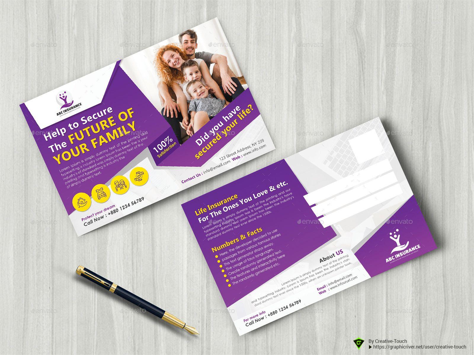 Insurance Business Marketing Postcard Marketing Postcard