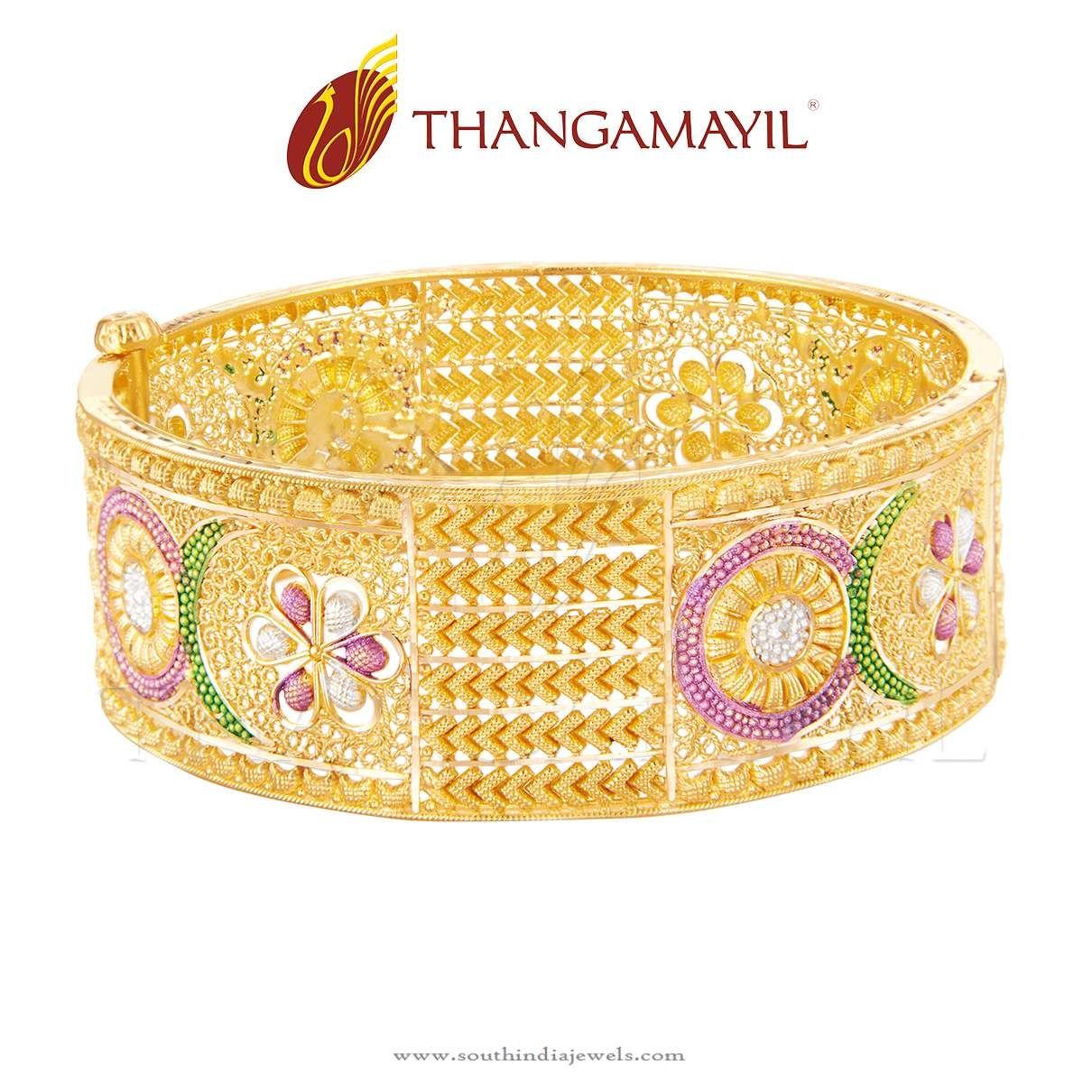 Big Bridal Gold Bangle From Thangamayil Jewellery | Gold bangles ...