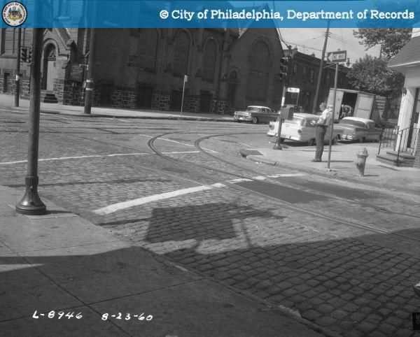 Crosswalk at 3rd and Snyder 1960