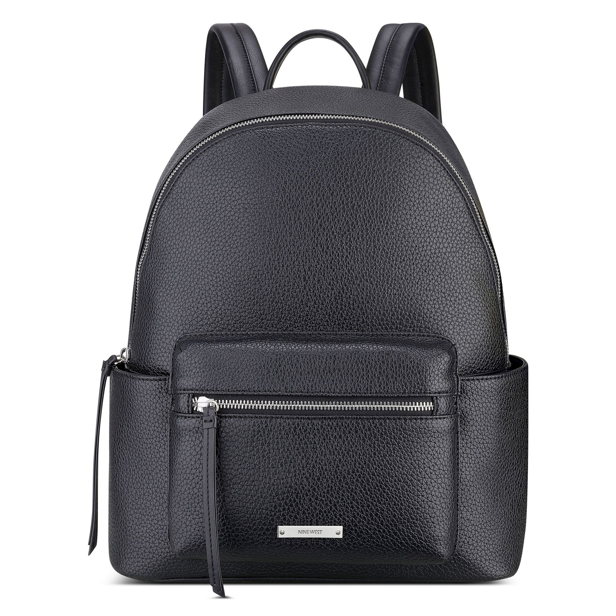 1002fa5b7d5f9 Black Pebbled Faux Leather Taren Backpack | Nine West | Spring 2016 ...