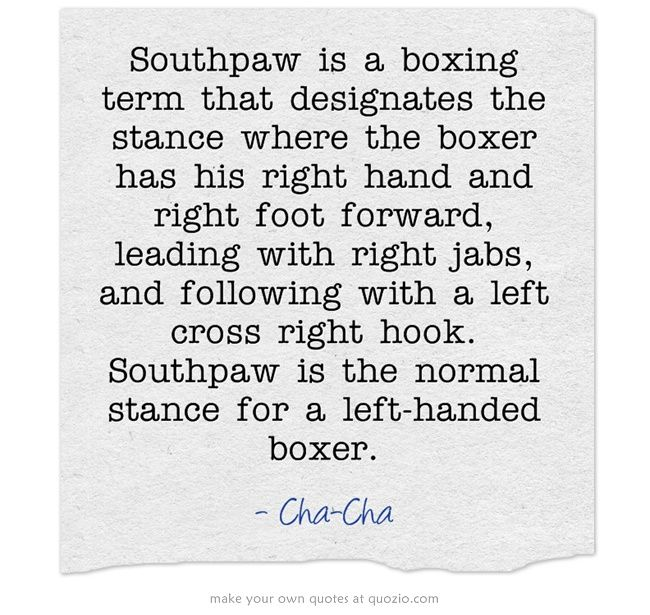 Boxing Styles Southpaw