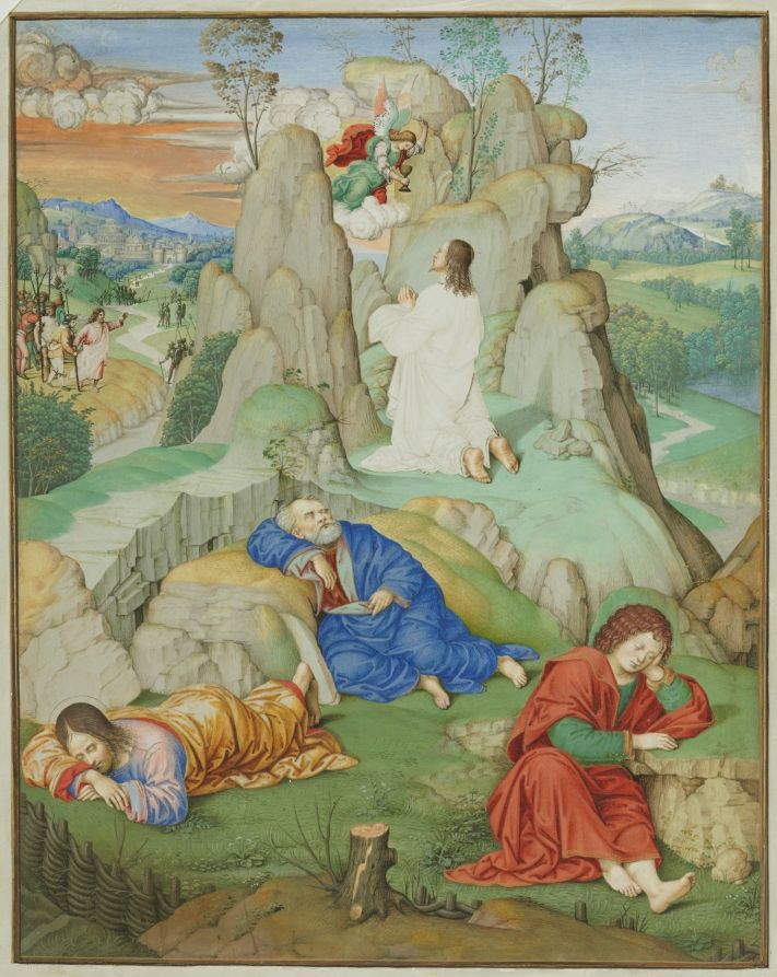 Full Page Miniature: The Agony in the Garden, 1490-1500 probably by ...