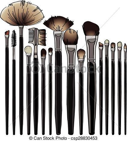makeup brush vector - photo #35