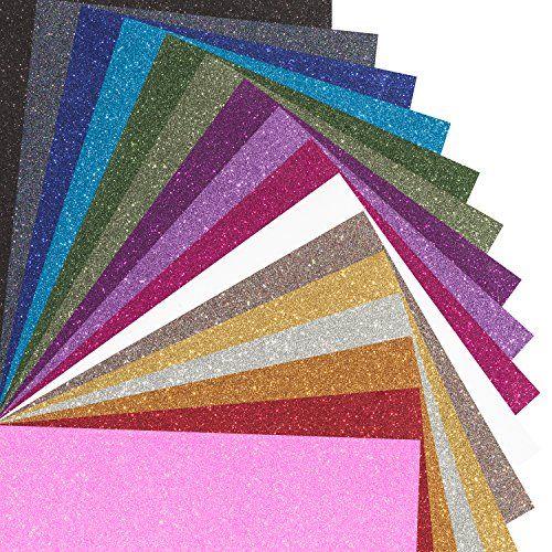 Marea Premium Glitter Heat Transfer Vinyl Htv Sheets 16 Color Bundle Pack Multicolors Vinyl Heat Tra Glitter Heat Transfer Vinyl Htv Vinyl Heat Transfer Vinyl