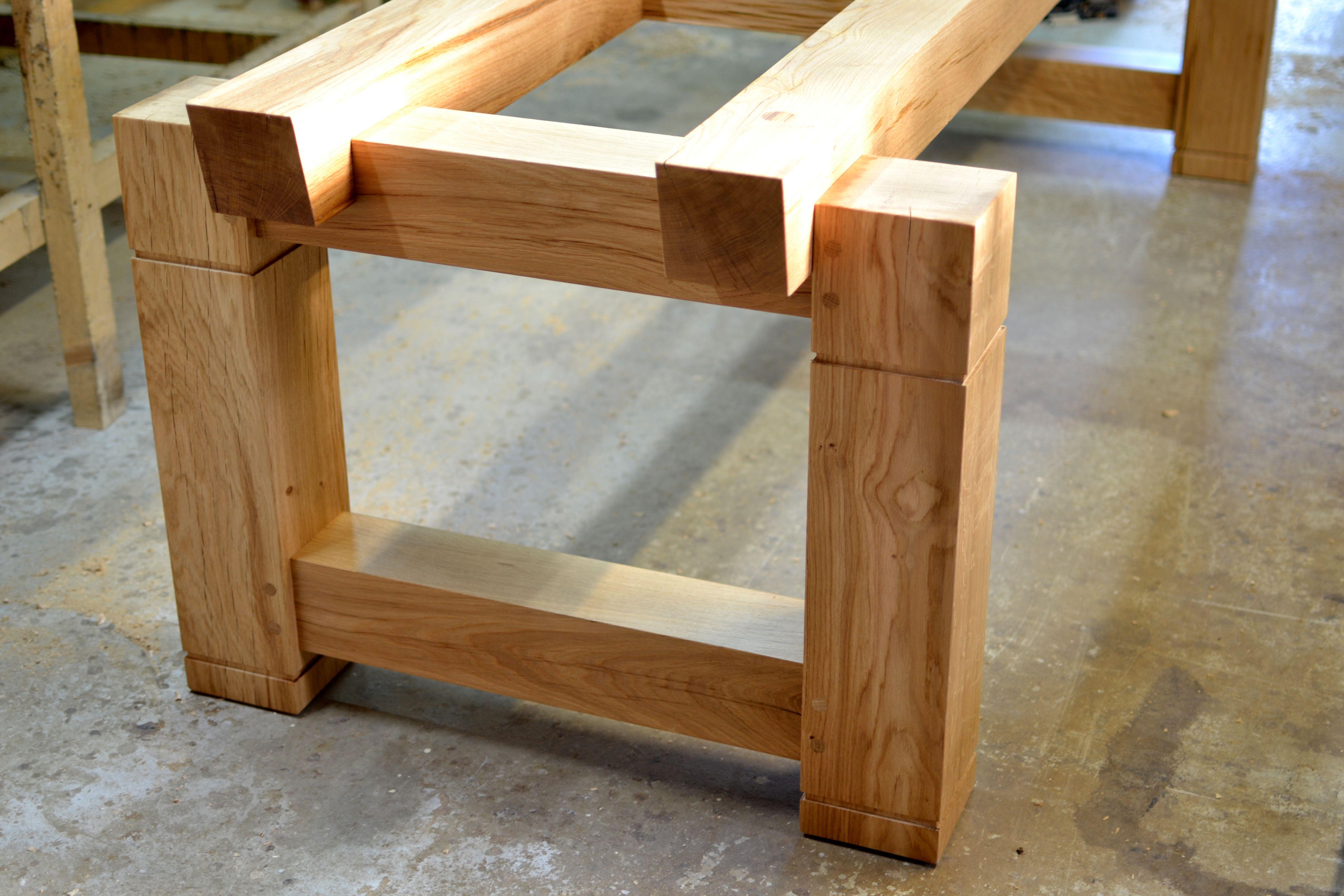 Bespoke Table With Glass Top Handmade Oak Dining Tables By Makers Bespoke Dining Table Dining Table Wood Table Legs [ 3072 x 4608 Pixel ]