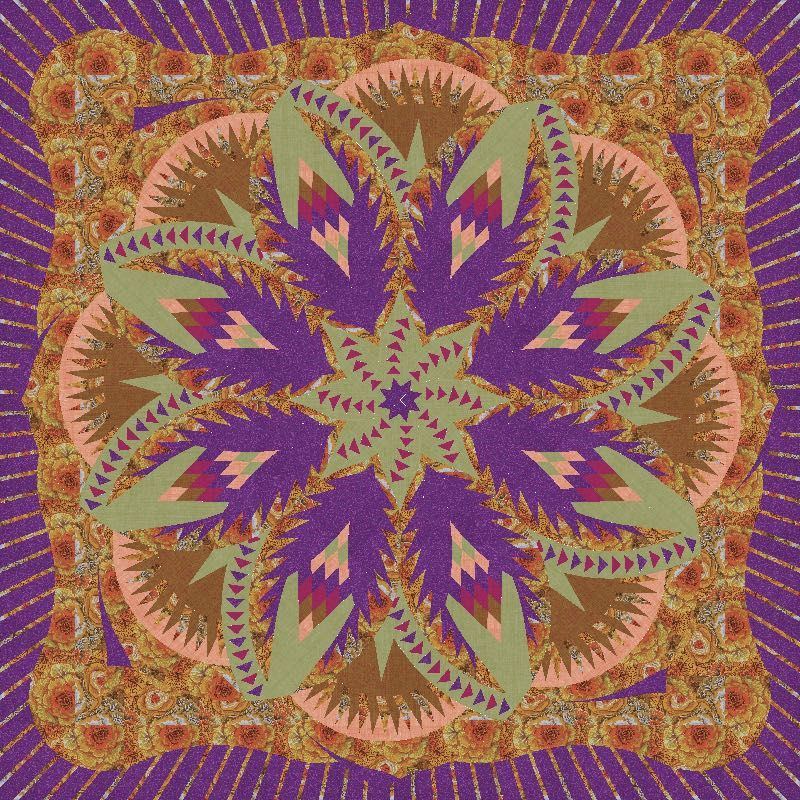 Check out this original color-way designed by Linda C. Sign up for a chance to participate in a private beta invite on www.quiltster.com