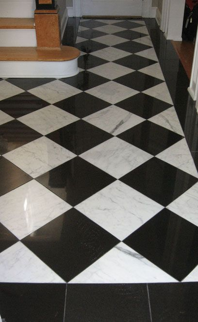 Marble Black And White Black And White Tiles White Tile Floor Patterned Floor Tiles