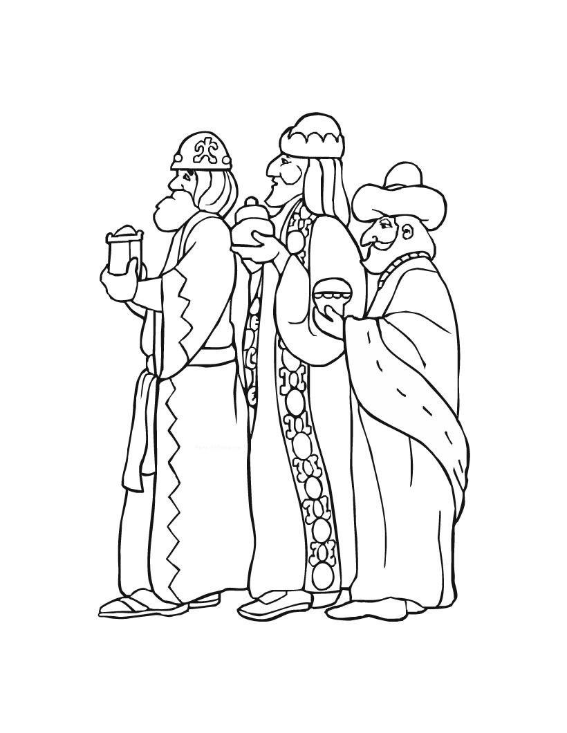 Dibujo Reyes Magos Colorear Navidad Pinterest