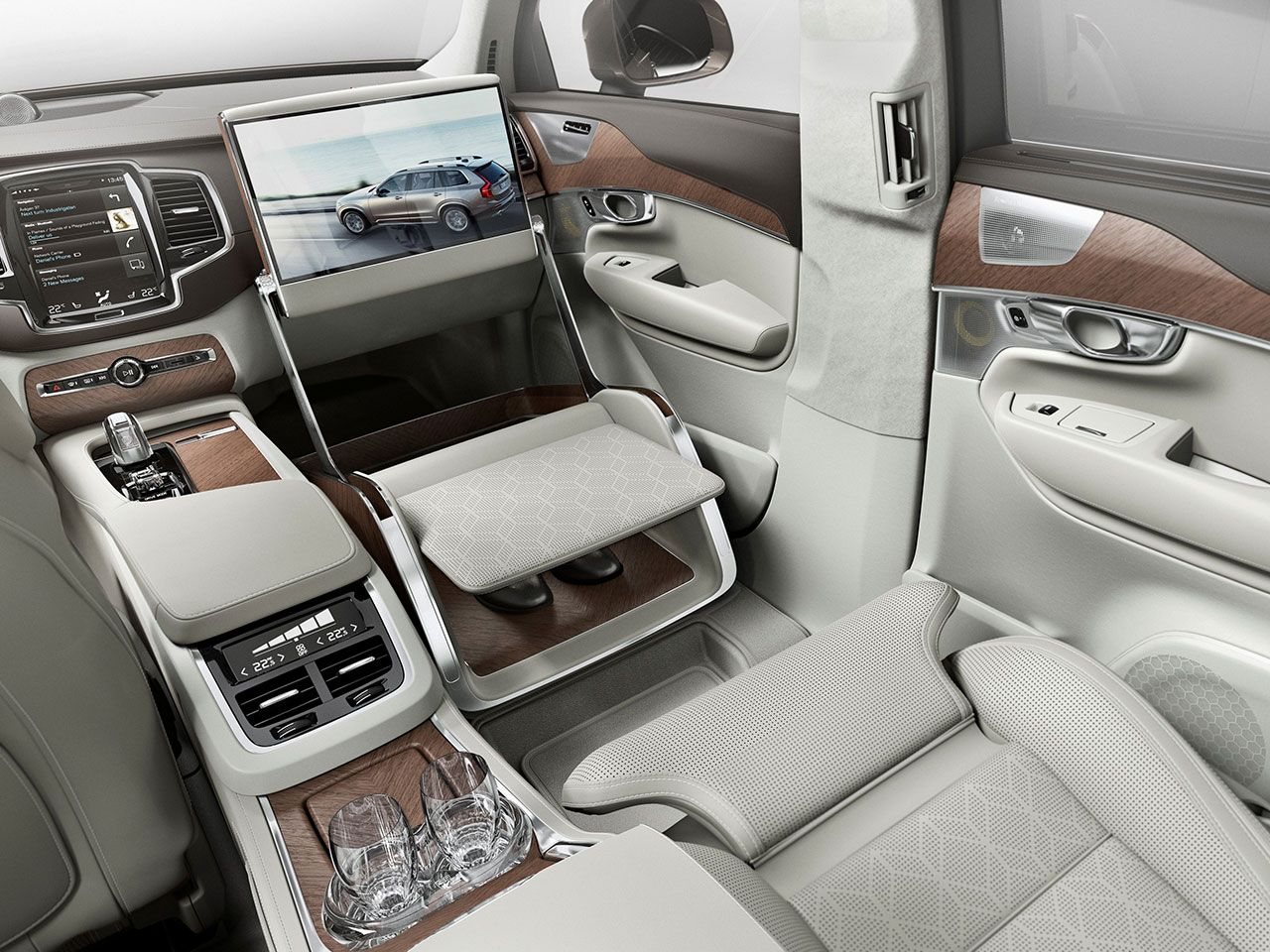 Volvo Xc90 Excellence Lounge Console Interior Concept Automotive