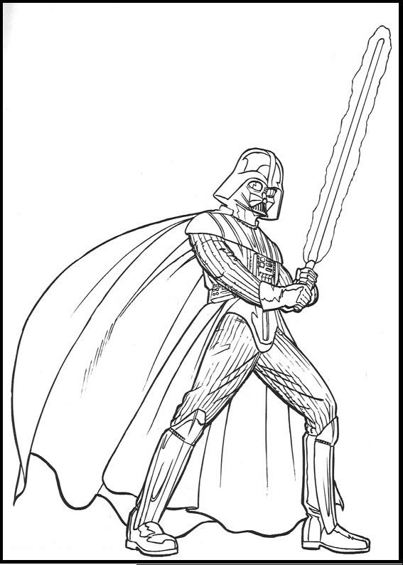 Star Wars Darth Vader coloring picture for kids  Star Wars