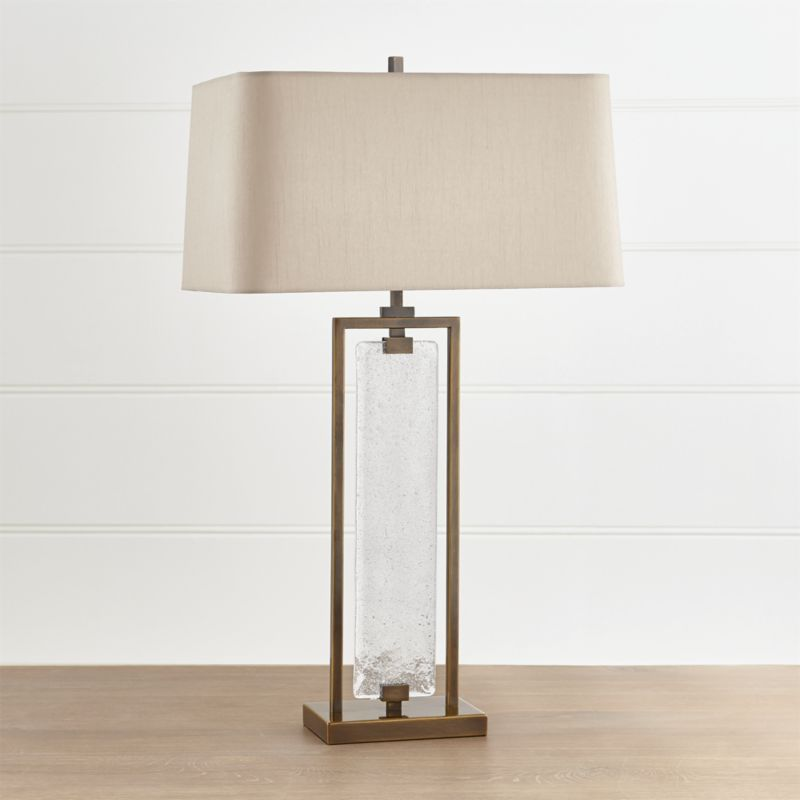 Shop Barton Glass And Metal Table Lamp Vintage Inspired With A Touch Of Sculptural Artistry Our Baron Lamp Frames Table Lamp Welding Table Metal Table Lamps
