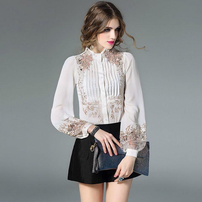 f56c65f24 Cheap Mejor calidad Blusas nueva moda 2018 Primavera Verano mujeres ...