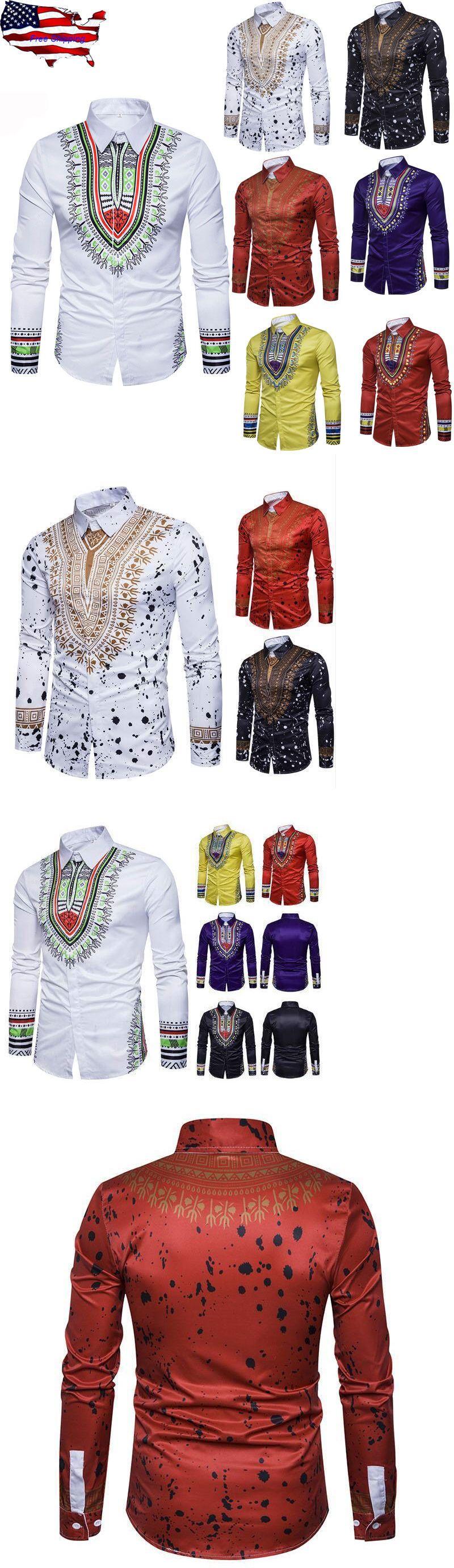 79e0dbbe233 Africa 155241  African Tribal Shirt Men Dashiki Print Succinct Hippie Top  Blouse Clothing M-
