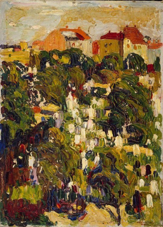 Un cimitero del Nord Monaco di Baviera di Wassily Kandinsky 1901