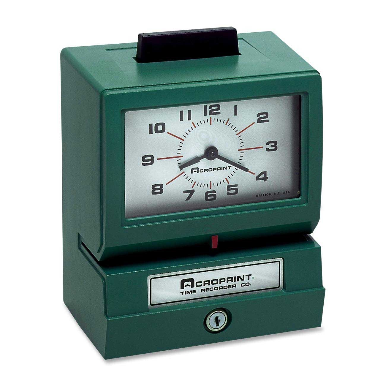 time card clock machine