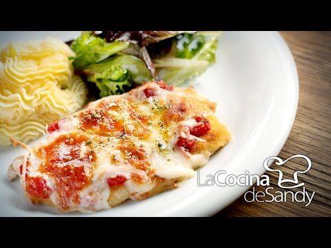 Milanesa de pollo napolitana recetas con pechugas de pollo - YouTube