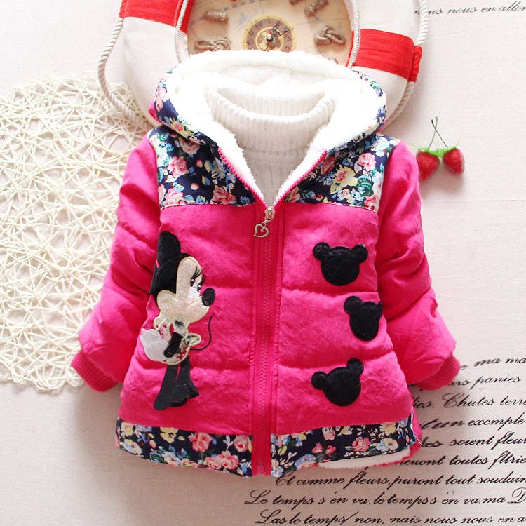 Hot Koop 2015 Winter Baby Meisjes Jassen Kids Minnie Jassen ...
