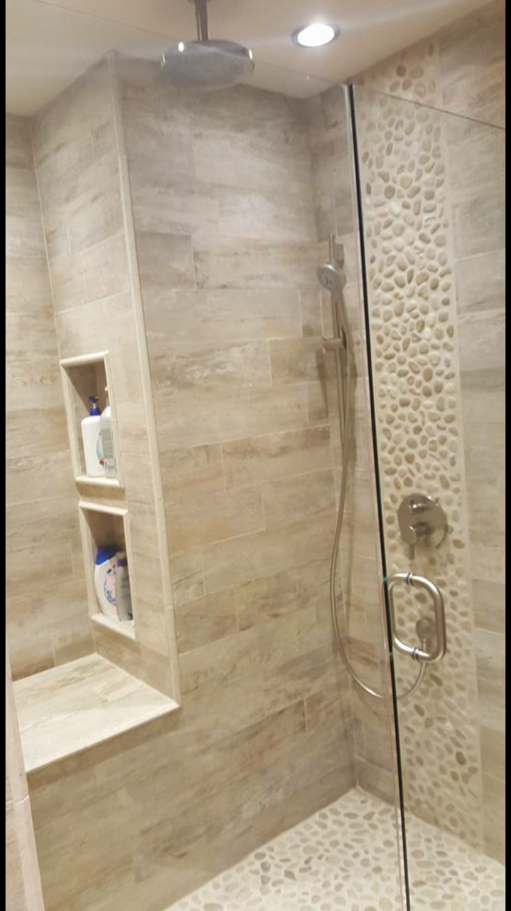 Woodlook Porcelain Tile For Your Shower Club Beige