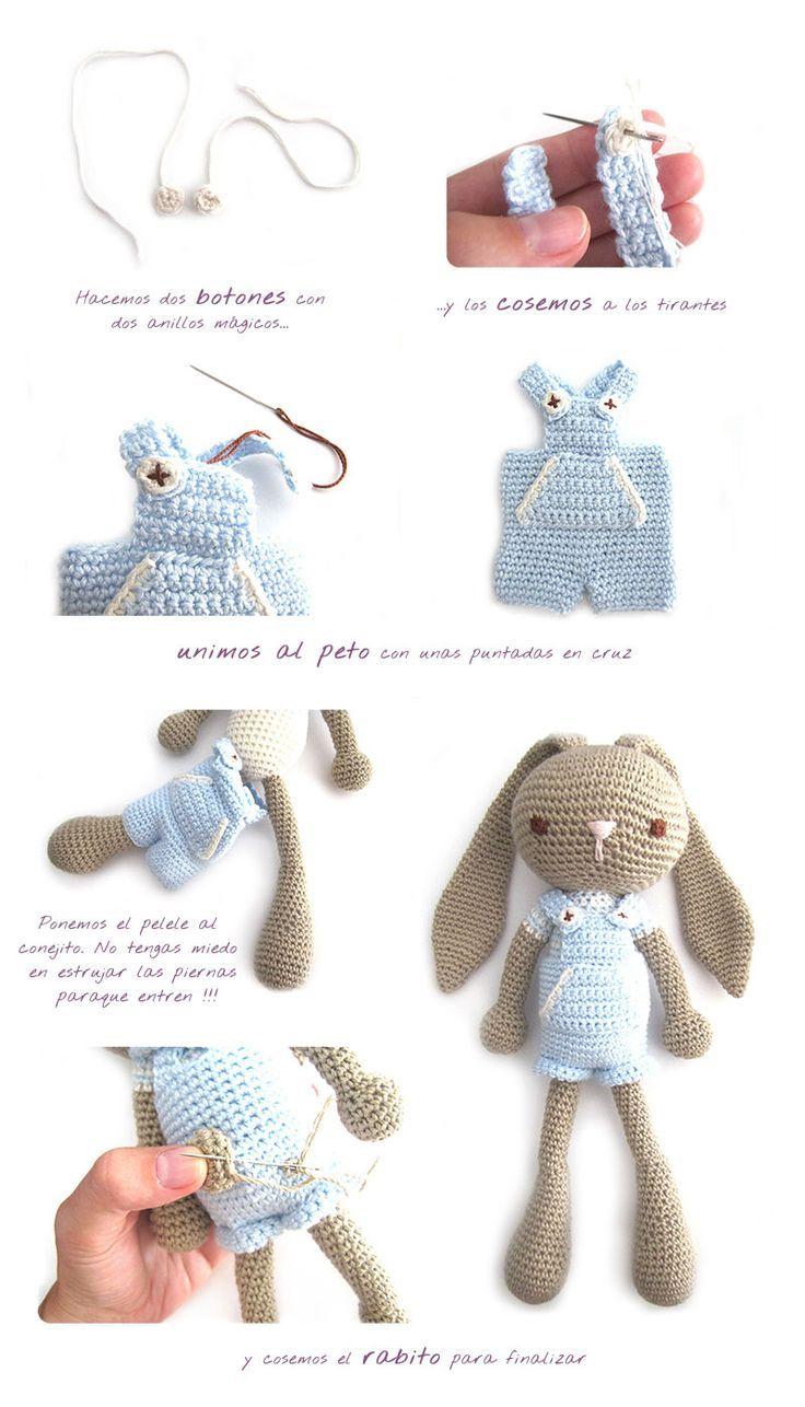 conejito-amigurumi-niño-3 | Crochet | Pinterest | Conejo, Animales ...